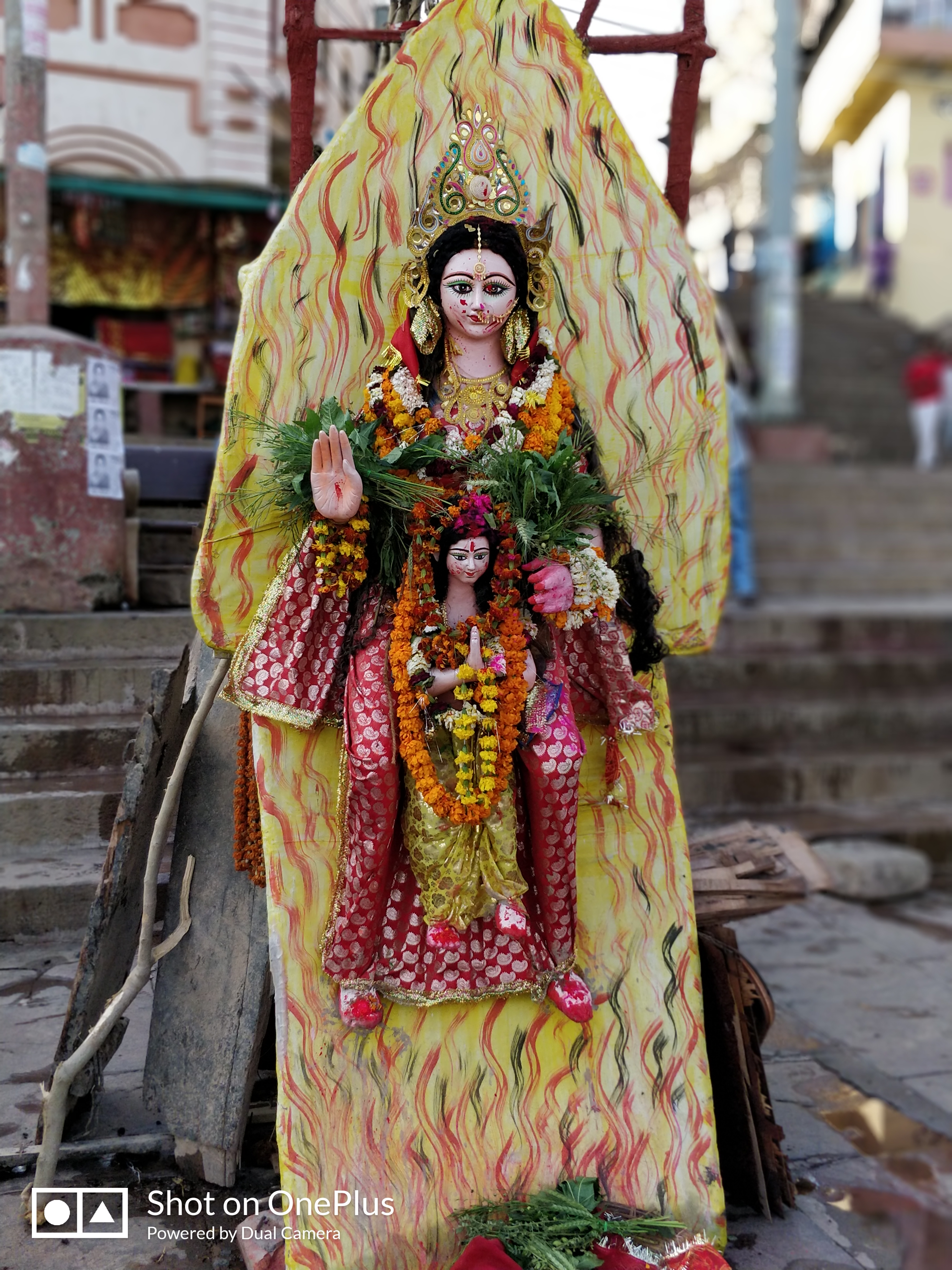 Holika dahan at Dashashwamedha Ghat