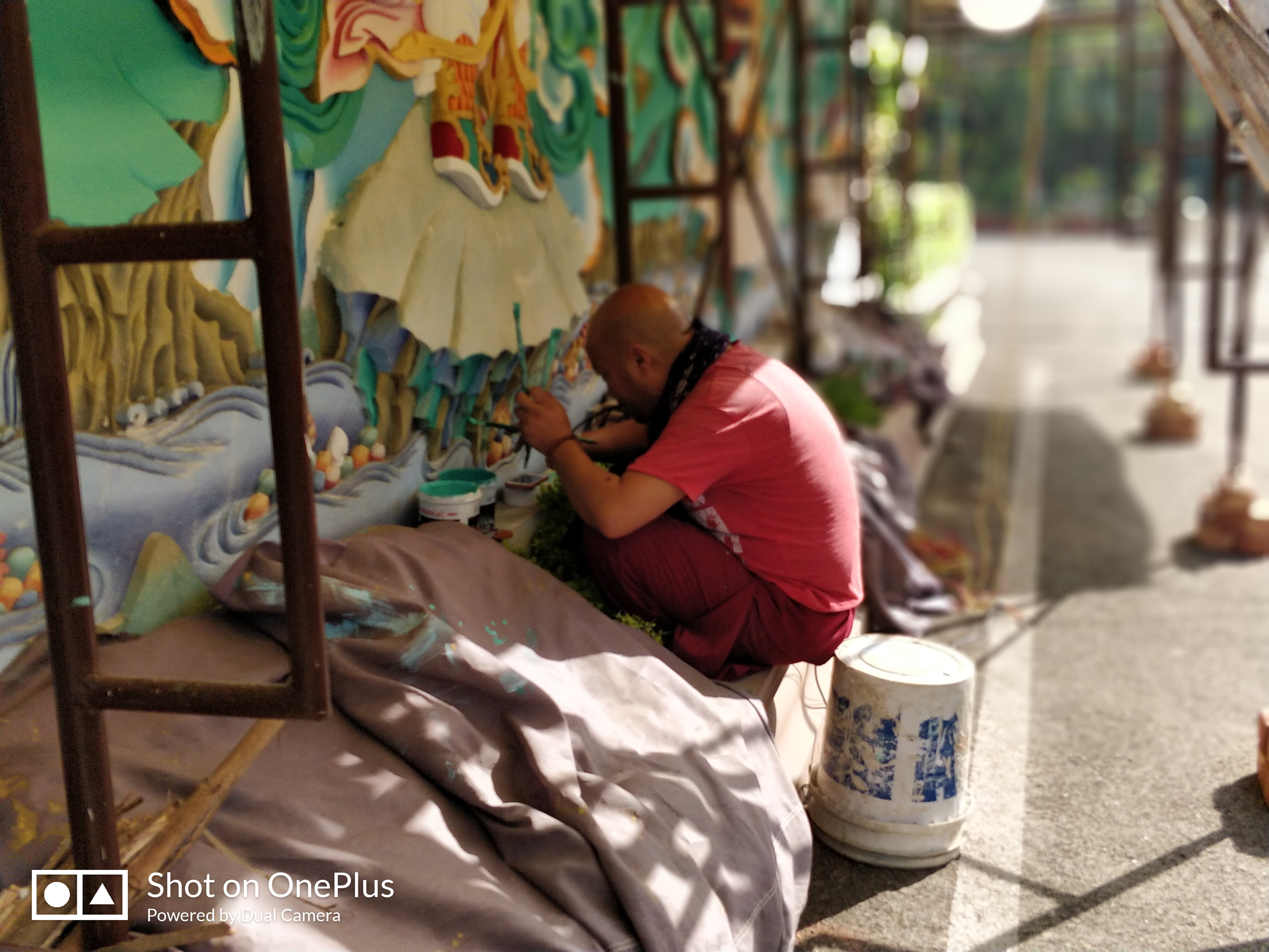 A monk who painted a wall