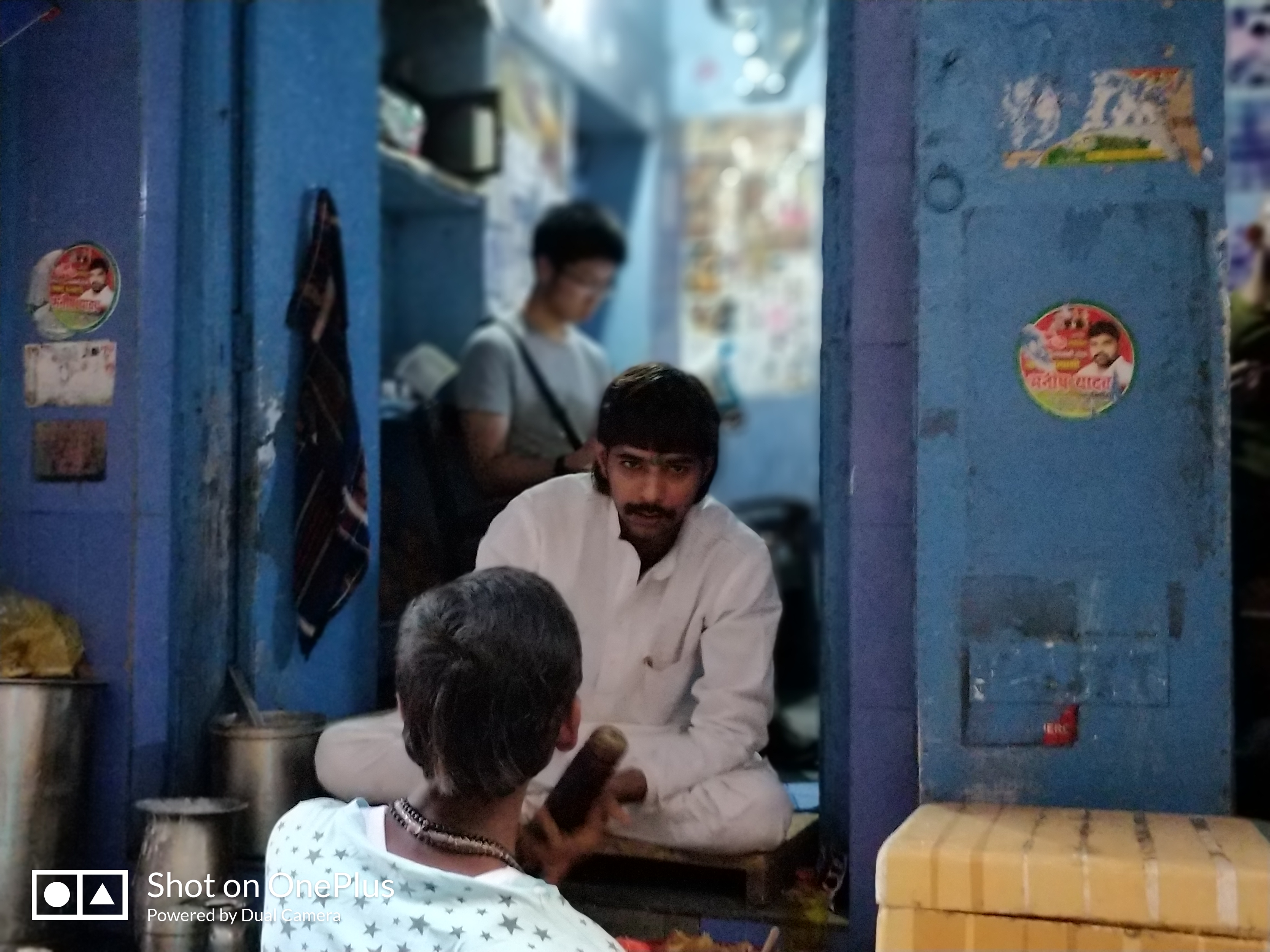 Blue Lassi Shop in Varanasi