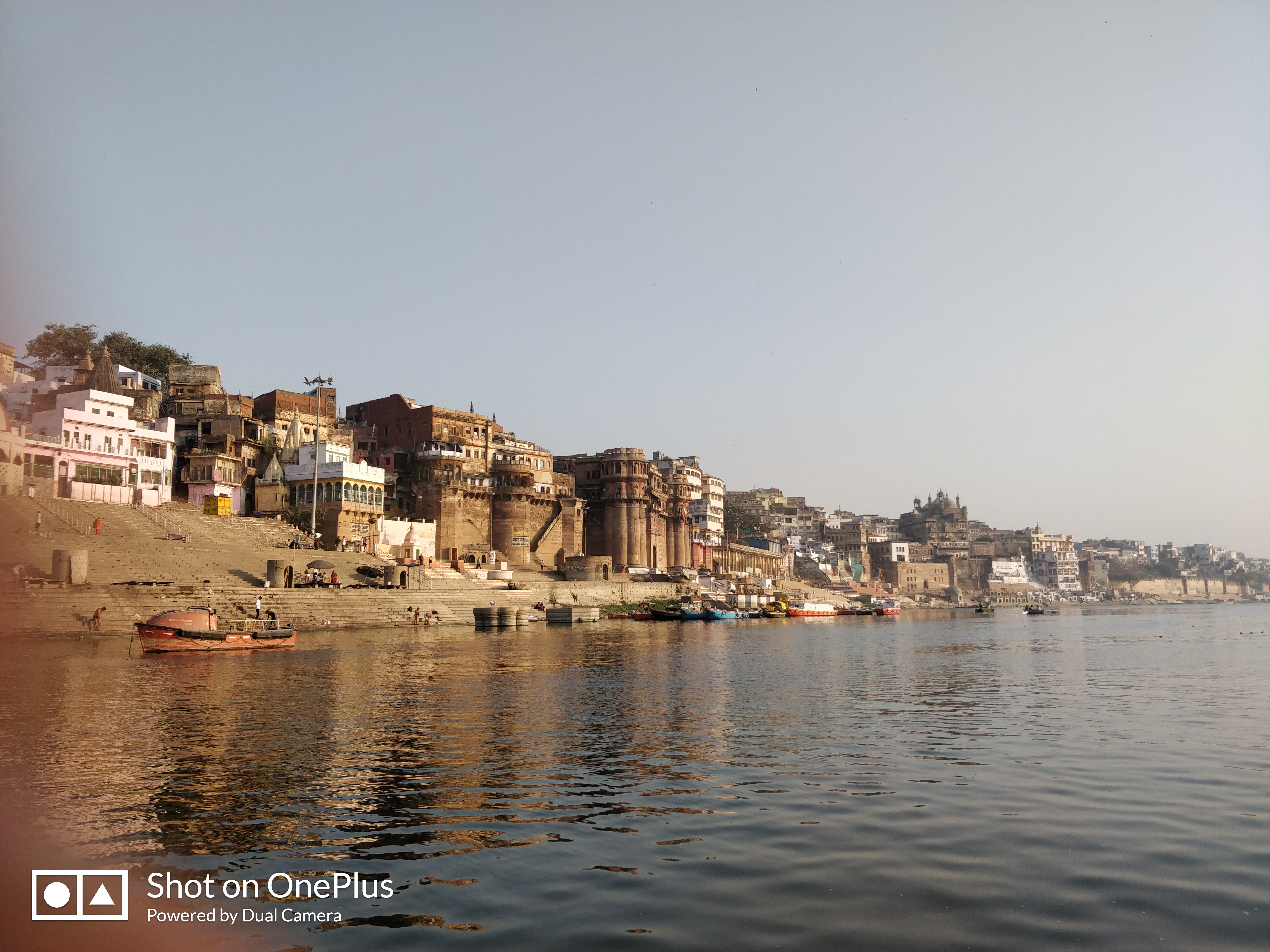 View of ghats from the river