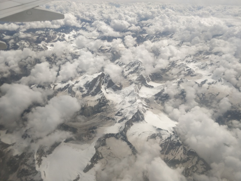 Himalayas from the flight