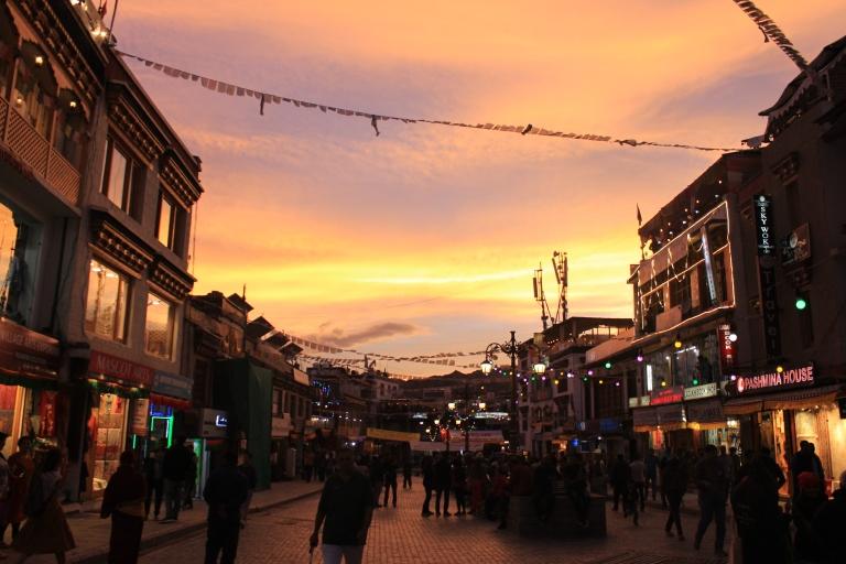 Sunset in Leh Market