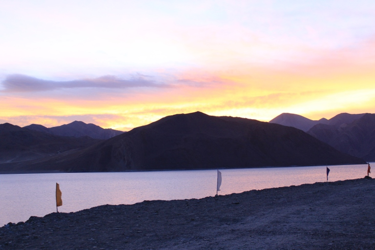 Early Morning sunrise at Pangong Lake