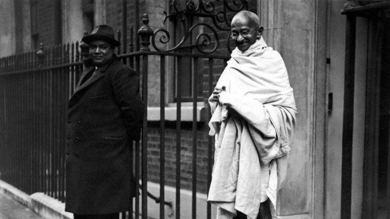 Mahatma Gandhi on his later visits to London