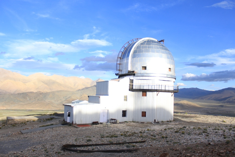 Astronomical Observatory on the top of the hill near Hanle