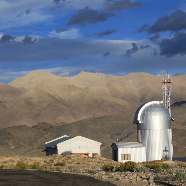 Another observatory on the hill near Hanle