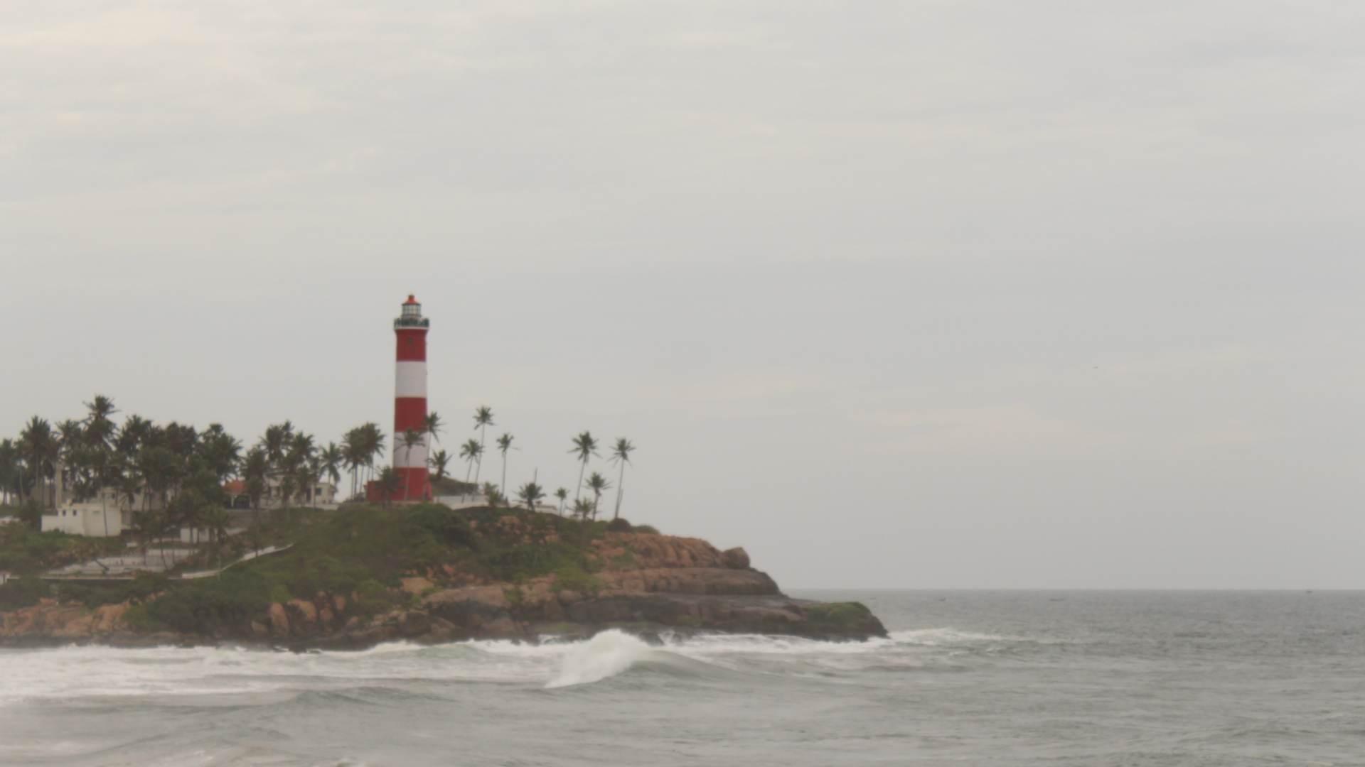Light House at a Kovalam Beach