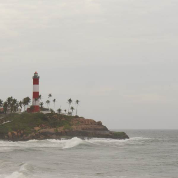 Light House at a Kovalam Beach